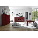 Prisma red gloss decorative highboard