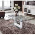 Benz - glass top coffee table