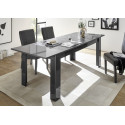 Prisma decorative grey gloss dining table