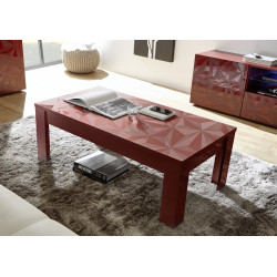 Prisma decorative red gloss coffee table