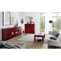 Prisma decorative red gloss coffee table