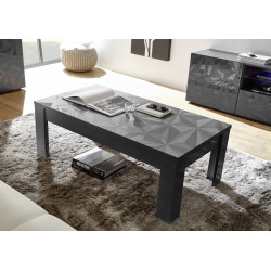 Prisma decorative grey gloss coffee table