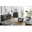 Prisma 241 cm grey gloss decorative sideboard
