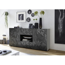 Prisma 181 cm grey gloss decorative sideboard