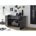 Prisma 181 cm grey gloss decorative sideboard