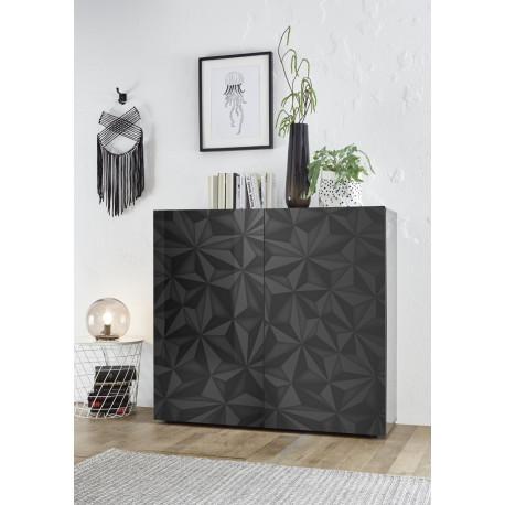 Prisma grey gloss decorative highboard