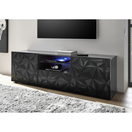 Prisma 181 cm grey gloss decorative TV unit