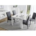 Prisma decorative white gloss dining table