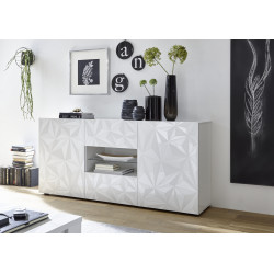 Prisma 181 cm white gloss decorative sideboard