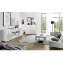 Prisma white gloss decorative highboard