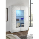 Prisma two door white gloss decorative display cabinet