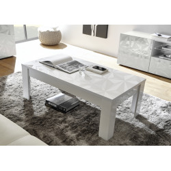 Prisma decorative white gloss coffee table