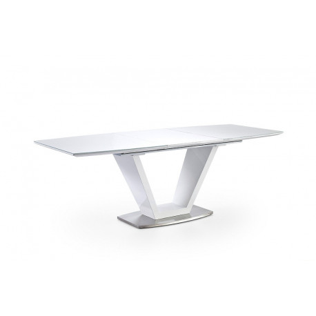 Iko 180cm extendable dining table in white gloss