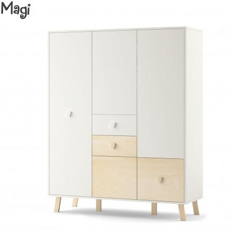Magi three door wardrobe