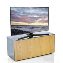 Ferro - intelligent TV Unit with wireless phone charger in grey and oak finish