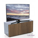 Ferro intelligent TV Unit with wireless phone charger in black and walnut