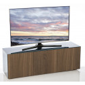 Ferro II intelligent TV Unit with wireless phone charger in grey and walnut