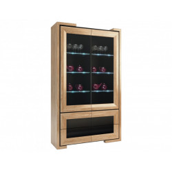 Maganda assembled large solid wood display cabinet