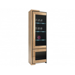 Corino II assembled tall solid wood display cabinet