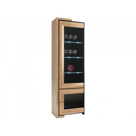 Corino II assembled tall solid wood display cabinet