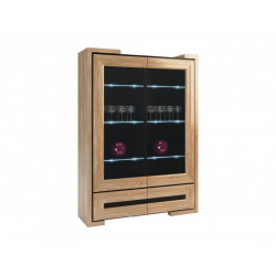 Corino III assembled solid wood display cabinet