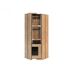 Corino assembled rotating corner bar cabinet