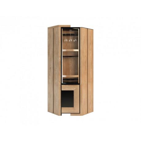 Corino assembled rotating corner bar cabinet