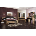 Corino bed with bench and bedside cabinets