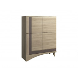 Korso assembled storage cabinet with drink section