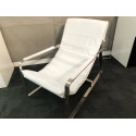 Caprice white leather armchair ex-display