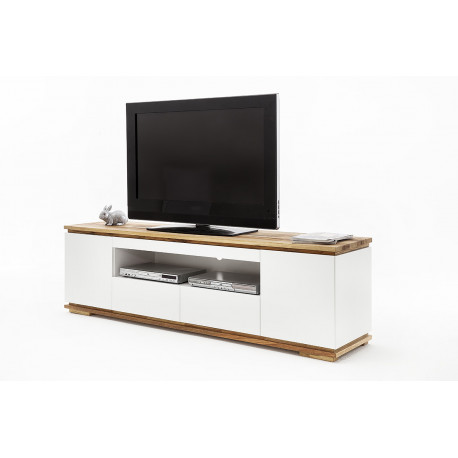 Chiaro large TV stand in natural oak