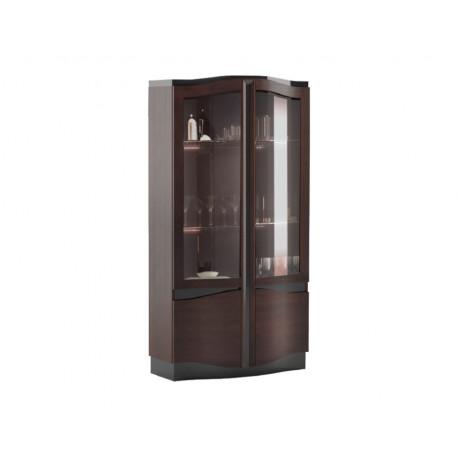 Diuna assembled large solid wood display cabinet