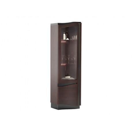 Diuna narrow solid wood display cabinet