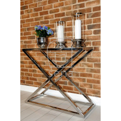 Joanne II console table in polished stainless steel