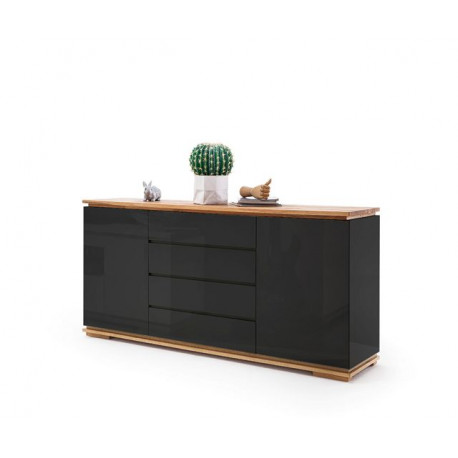 Chiaro 172cm sideboard with natural oak top