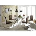 Roger 180(230cm) white matt lacquered dining table