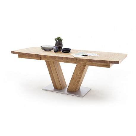 Managua B extendable wood dining table