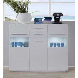 Cuba 150cm highboard with LED lights