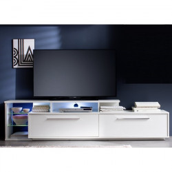 Cuba 212cm TV unit in white finish