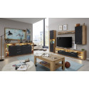 Score I wall unit composition in wotan oak and grey matera finish