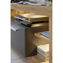 Score IV wall unit composition in wotan oak and grey matera finish
