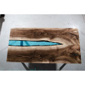Aria river bespoke resin dining table in walnut finish