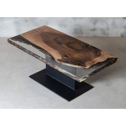 Aria square bespoke resin coffee table