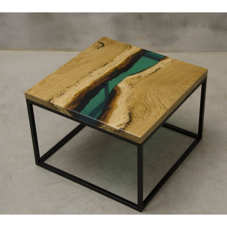 Aria resin square coffee table