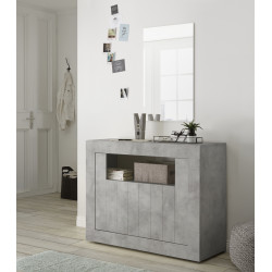 Fiorano 110cm sideboard in beton grey finish
