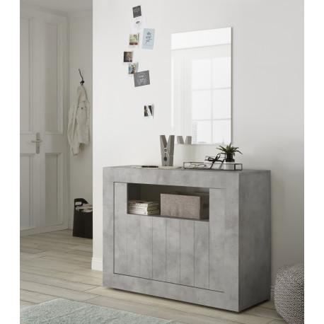 Fiorano 110cm sideboard in beton grey finish