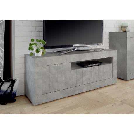 Fiorano 138cm TV unit in beton grey finish