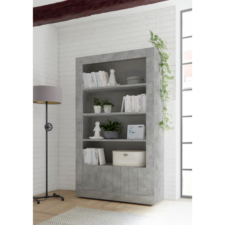 Fiorano bookshelf in beton grey finish