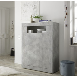 Fiorano 110cm highboard in beton grey finish