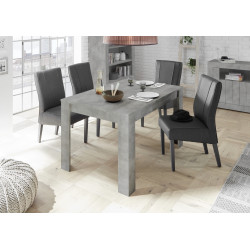 Fiorano extendable dining table in beton grey finish